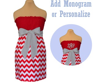 Ohio State, WSU Cougars Chevron Game Day Dress