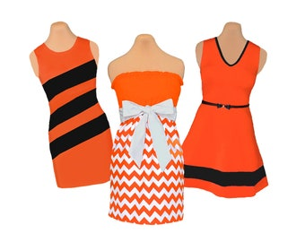 Orange + White/Black