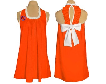Clemson Game Day Back Bow Dress