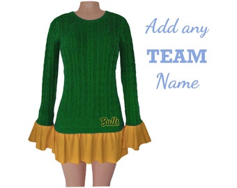Green and Gold Tunic Sweater
