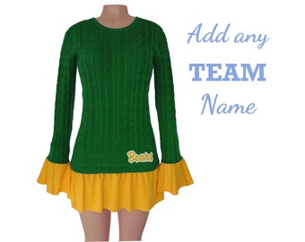 Green and Yellow Tunic Sweater