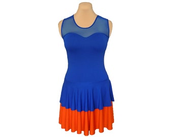 Orange + Blue Ballerina Dress