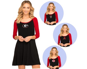 Black + Red Game Day Dress- Georgia Bulldogs, NC State, Arizona Diamondbacks, Cincinnati Reds