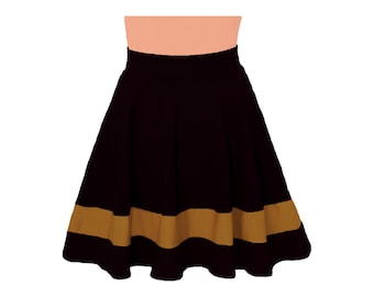 Black + Gold Cheerleader Style Skirt