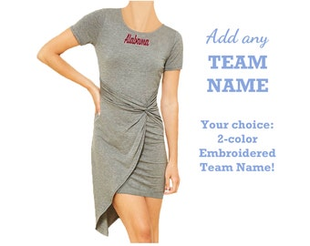 Gray Game Day Dress with Team Name