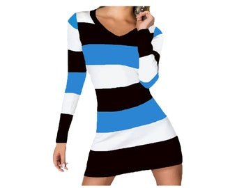 Panthers, Magic, Mavericks Stripe Game Day Dress
