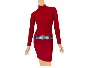 Alabama Crimson + Houndstooth Sweater Dress