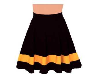 Black + Yellow Cheerleader Style Skirt