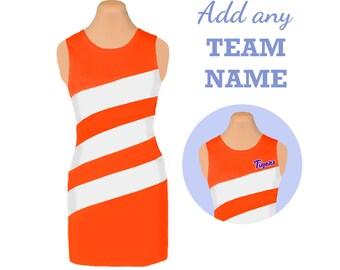 Clemson Game Day Diagonal Stripe Dress