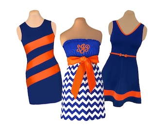 Blue/Navy + Orange