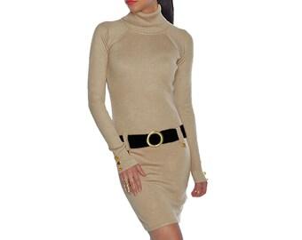 Gold + Black Sweater Dress