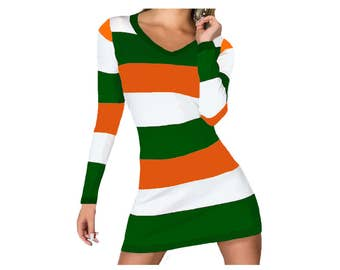 Miami Hurricanes, FAMU, Florida A and M Stripe Game Day Dress