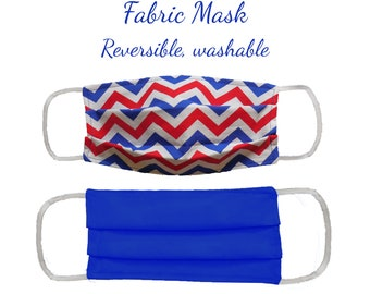 Red, White and Blue Face Mask