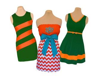 Orange + Aqua/Green