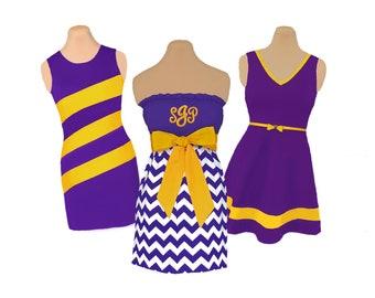 Purple + Bright Gold