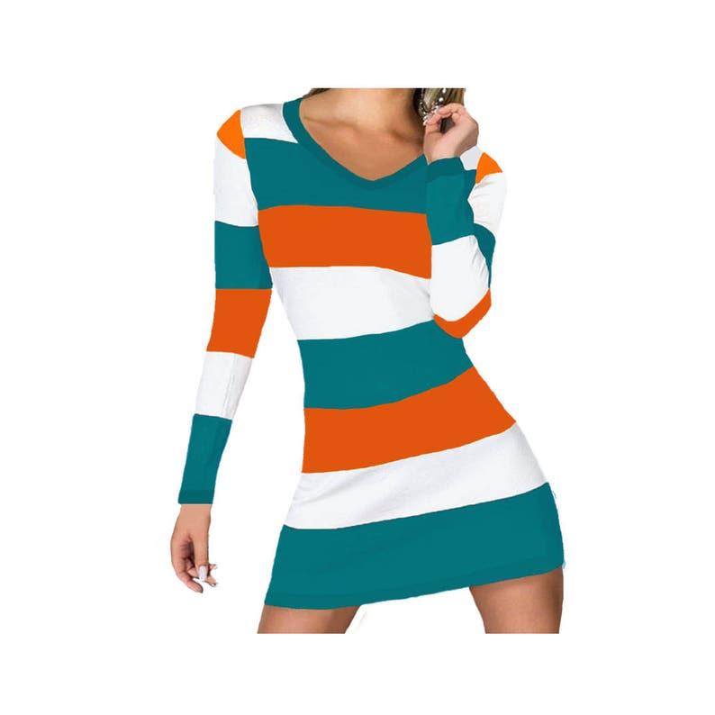 san francisco 5bb9a cf52f Miami Dolphins, Miami Marlins Stripe Game Day Dress