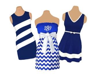 Blue/Navy + White