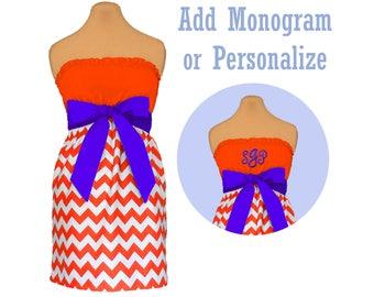 Orange + Purple Chevron Dress