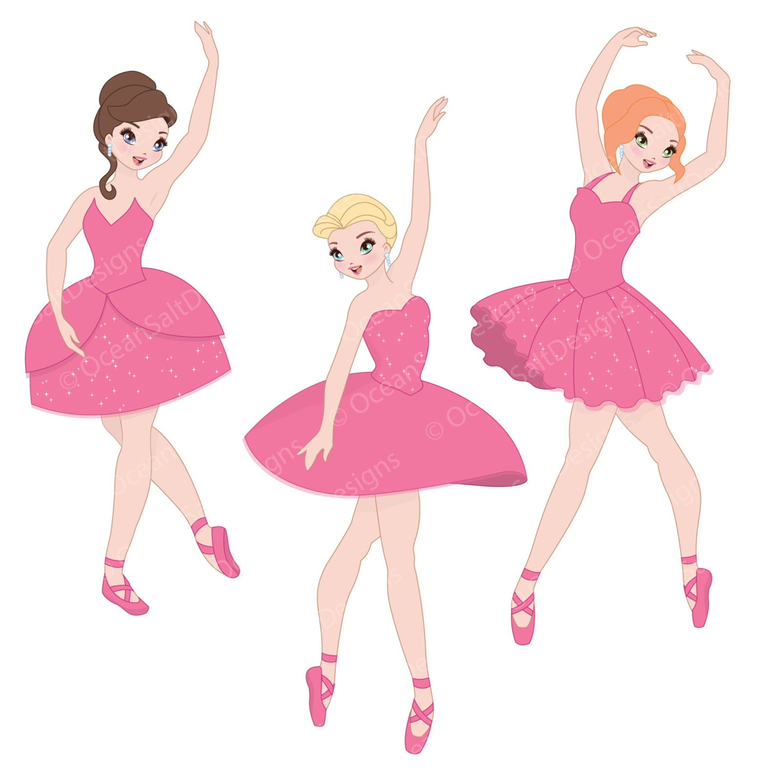 ballerina party clipart ballet clipart dancing image tutu ballet shoes ballerina invitation eps instant download kids party invi