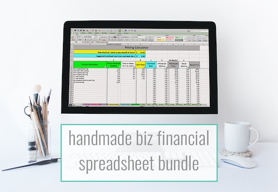 etsy financial spreadsheet bundle monthly bookkeeping etsy