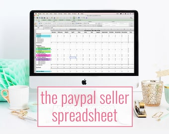 PayPal Seller Spreadsheet - bookkeeping template for online businesses - accounting spreadsheet