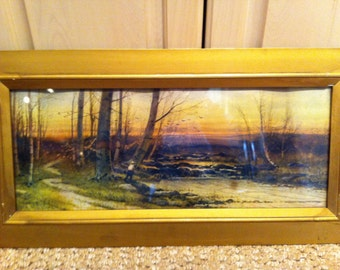 S.A. Mulholland Vintage Print and Frame