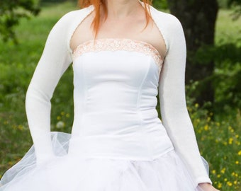Bridal Bolero Ivory Bridal shrug Wedding Bolero Wedding  jacket Knit shrug Merino wool Bolero evening Bolero wedding sweater gift for her