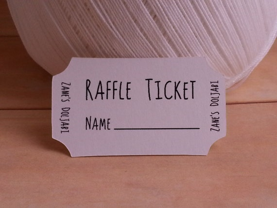Raffle Tickets Custom Unique