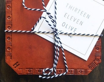Leather Coasters- Set of 4