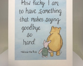 Miss you cards etsy classic winnie the pooh greeting card miss you cards saying goodbye love thinking of you going away moving leaving home m4hsunfo