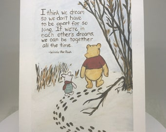 Pooh Miss You Card Etsy
