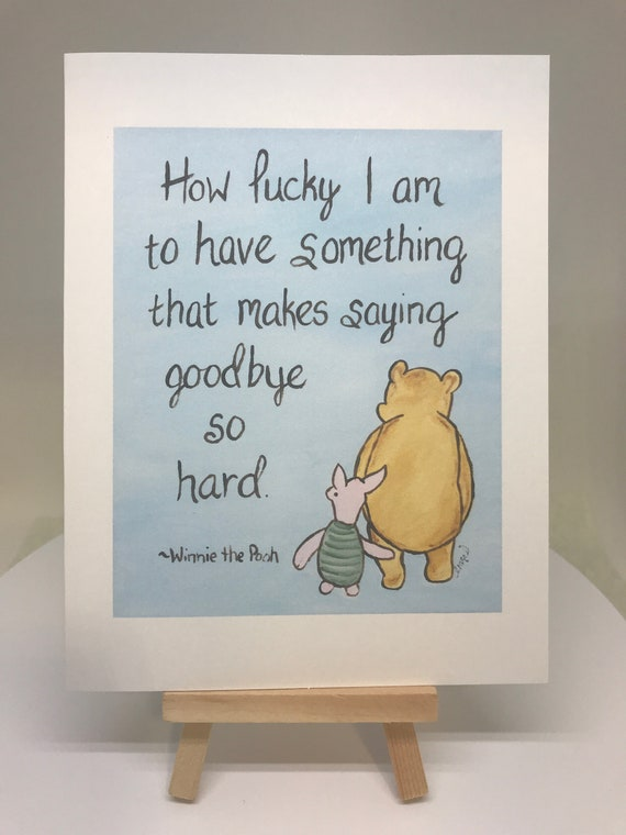 Classic Pooh Winnie The Pooh Quote Art Friendship Card Best Etsy
