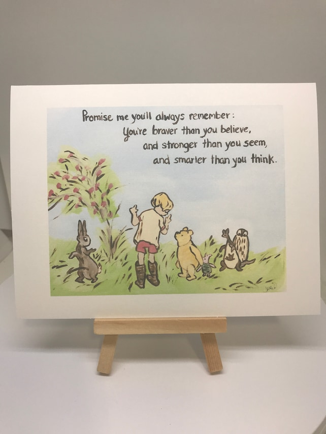 Thinking of you classic winnie the pooh greeting card pooh etsy image 0 m4hsunfo