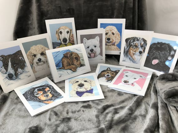 Mothers Day Gift Birthday Gift Greeting Cards Dogs K9 Etsy