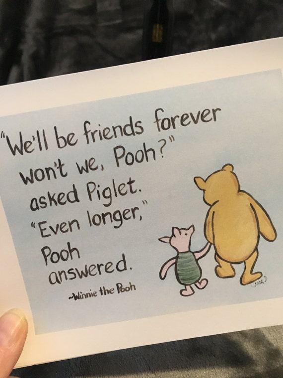 Friendship card classic winnie the pooh greeting card quote m4hsunfo