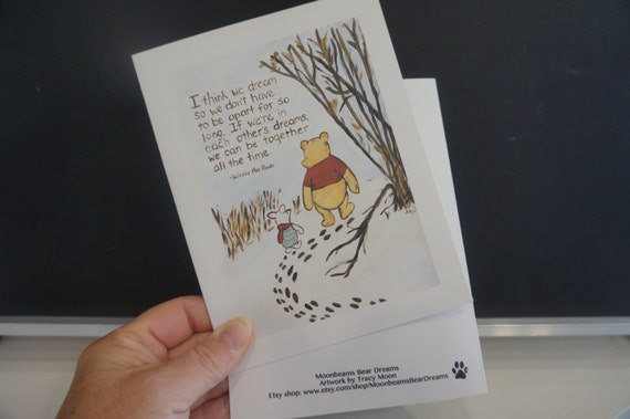 Classic winnie the pooh greeting card pooh quote about dreams m4hsunfo