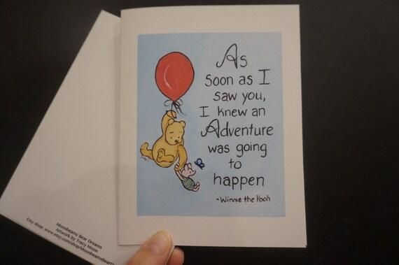 Classic pooh greeting card friendship best friend bff winnie m4hsunfo