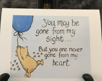 Thinking of you card classic winnie the pooh greeting card i moving card saying goodbye leaving home going away graduation sympathy miss you classic winnie the pooh m4hsunfo