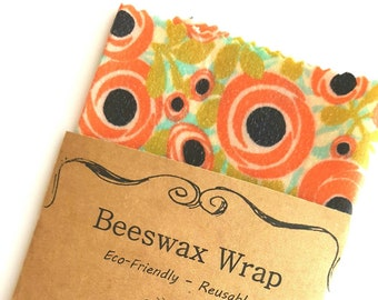 Rose Beeswax Wraps - Reusable Beeswax Food Wrap - Natural Living Accessories - Eco friendly kitchen - choose your size