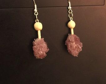 Purple Rock Candy Earrings