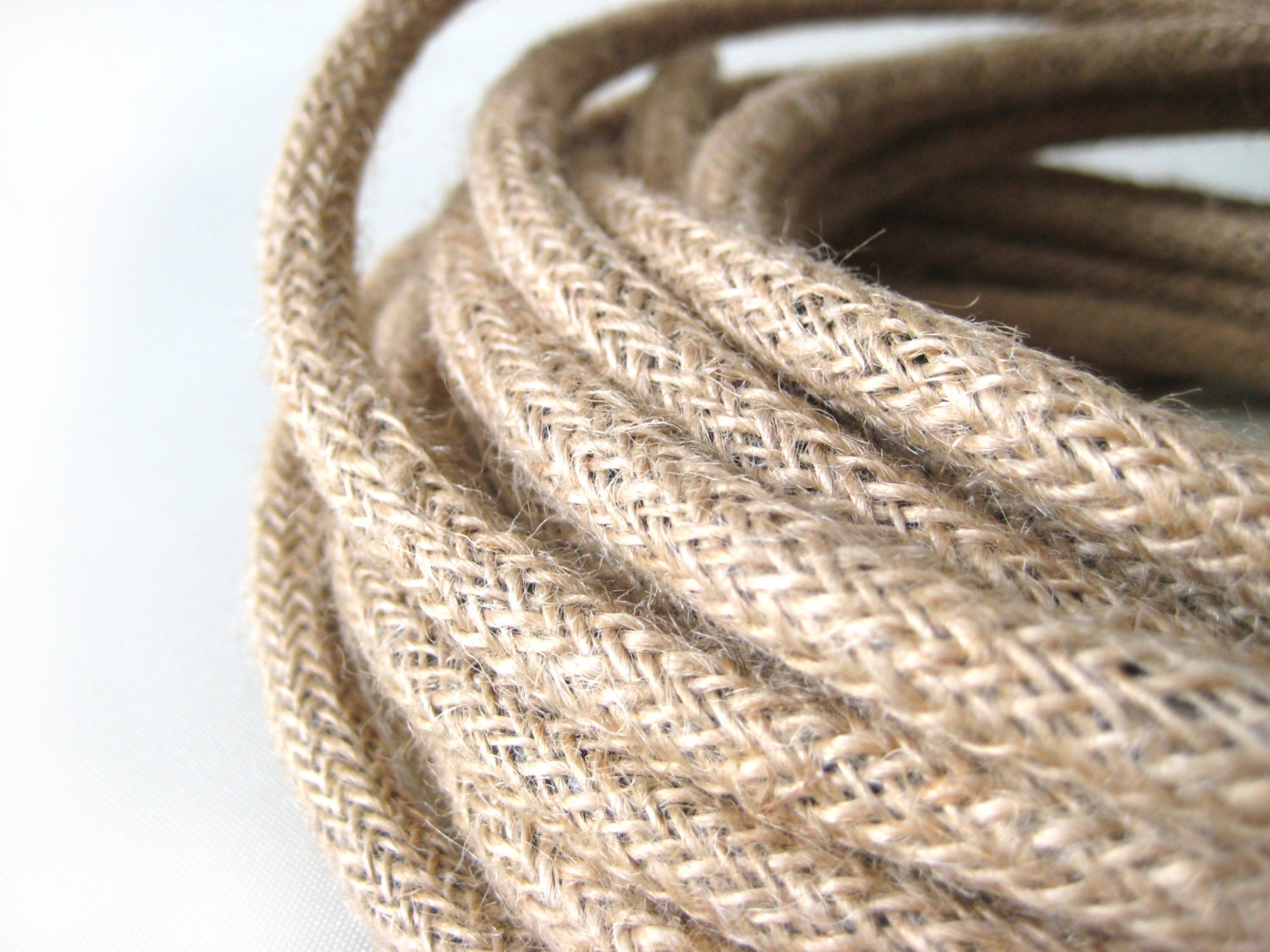 Wire by METER Linen Fabric Cloth Covered Wire Electrical Cord ...