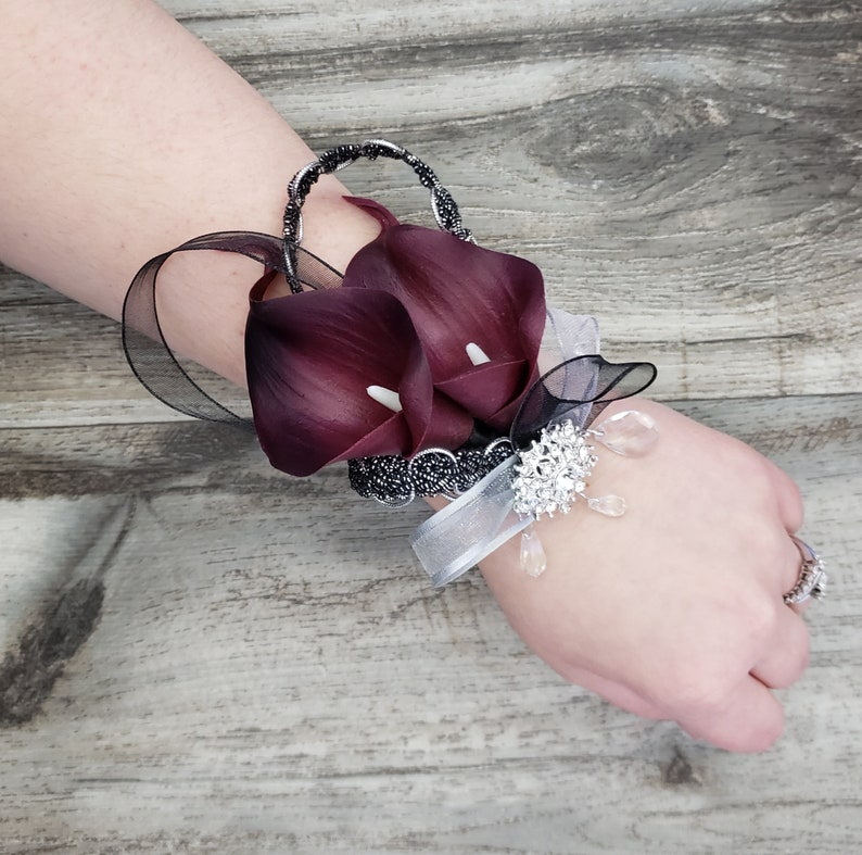 Boxed Real Touch Dark Burgundy Wine Calla Lilies Sheer Etsy