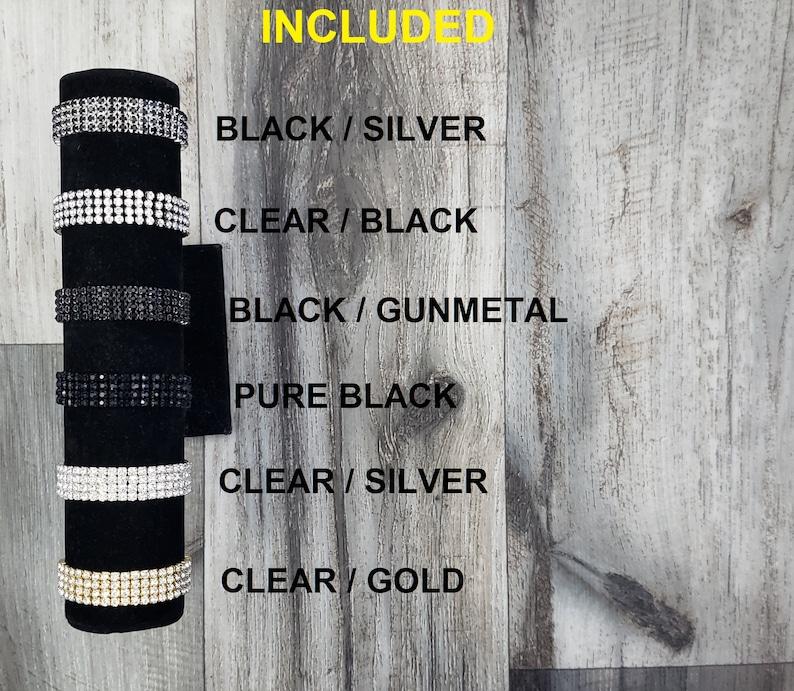 MATCHING BoutonniereHair Clip Metallic Black Silver Trim Rhinestone Wrist Corsage BOXED Real Touch Gatsby Romantic White Gardenia Ribbon