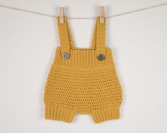 CROCHET PATTERN - Crochet Baby Romper /Onesie /Playsuit/Overall  - Little Cookie - PDF