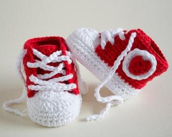 CROCHET PATTERN - Crochet Baby Booties Fancy Baby - Baby Shoes - PDF