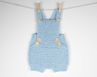 CROCHET PATTERN - Crochet Baby Romper Pure Happiness - - Babay Overall - Baby Onesie - PDF