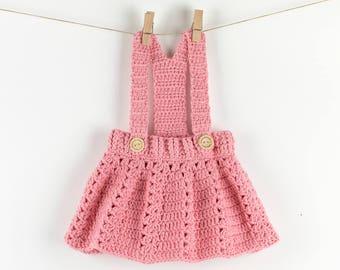 CROCHET PATTERN - Crochet Baby Dress Peony Twirl - Baby Overall - Baby Onesie - Baby Shirt - PDF