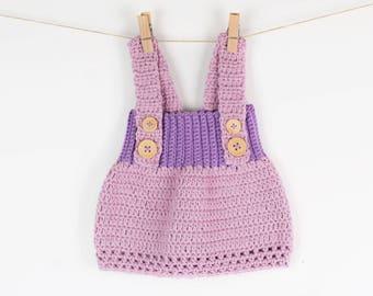 CROCHET PATTERN - Crochet Baby Dress Little Princess - PDF