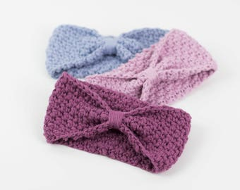 CROCHET PATTERN - Simple Easy For Beginners Crochet Headband - All sizes - Blueberry Dance Headband- PDF