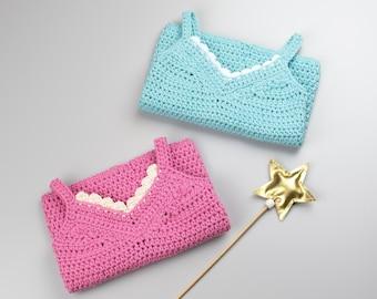 CROCHET PATTERN - Crochet Baby Top Little Lace Tank - Baby Shirt - Crochet Sweater - PDF